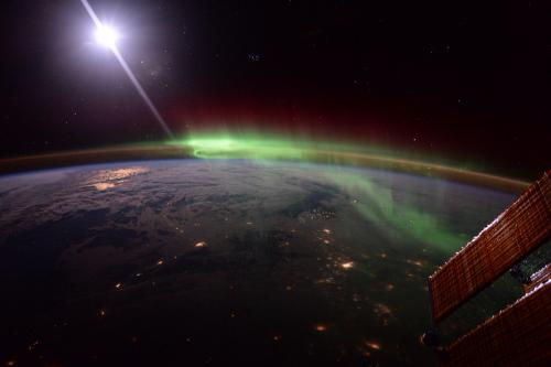 Aurora in the atmosphere